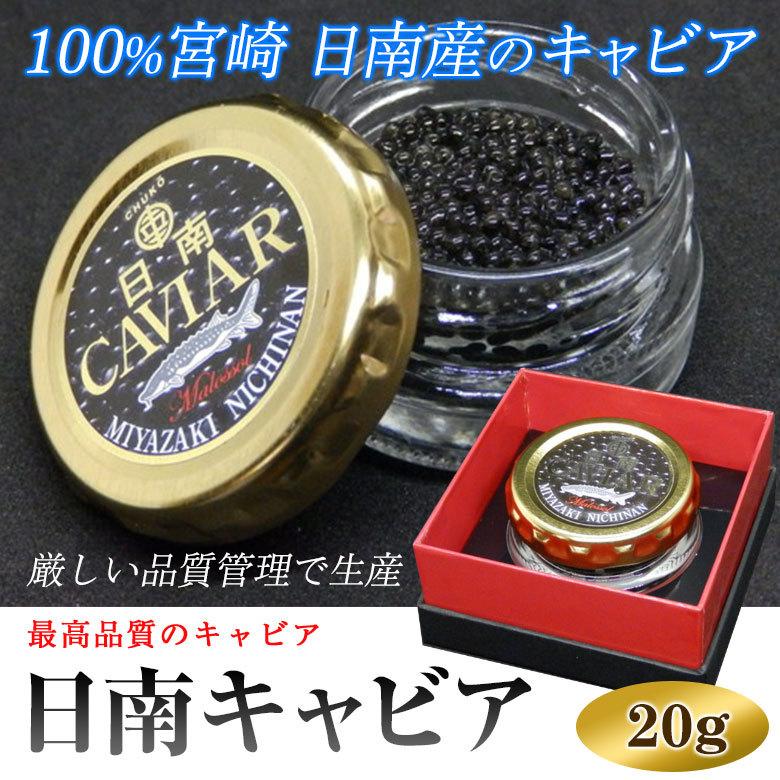 日南キャビア 20g 100%宮崎県日南産 濃厚な国産キャビア 大切な方へのプレゼントに喜ばれます(送料無料)