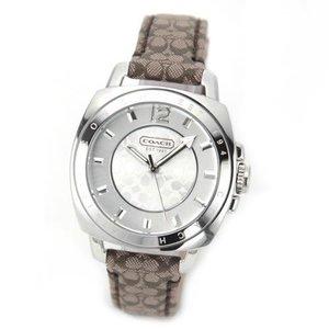 魅了 COACH コーチ レディース腕時計 Boyfriend Mini (ボーイフレンド ミニ) レザーベルト 14501538S, Daito International 481ab6fb