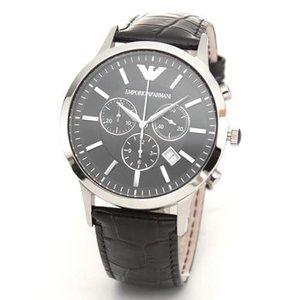 1着でも送料無料 EMPORIO ARMANI エンポリオアルマーニ メンズ腕時計 メンズ・レザーストラップ・クロノグラフ・ウオッチ AR2447, 山国町 e3bd2433