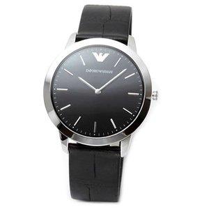 新入荷 EMPORIO ARMANI エンポリオアルマーニ メンズ腕時計 シンプルでスタイリッシュ。使いやすい薄型ケース。メンズ・レザーストラップ・ウオッチ AR1741, トネムラ 0d64777b
