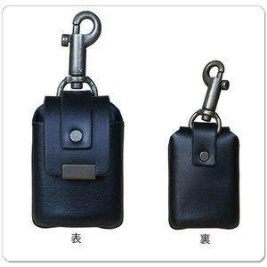 ZIPPO用 カワケース キーホルダー付 ブラック 【ギフト/プレゼント/喫煙具/シンプル】