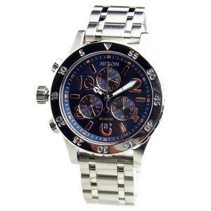 【SALE】 NIXON ニクソン レディース 腕時計 レディース ユニセックス 38-20 ユニセックス クロノグラフ 38-20 ネイビー/ローズゴールド 女性用 A404-2195 A4042195 NIXON ニクソン レディース腕時計 A4042195, 激安オーダーブラインド専門店:c05c98fa --- cartblinds.com