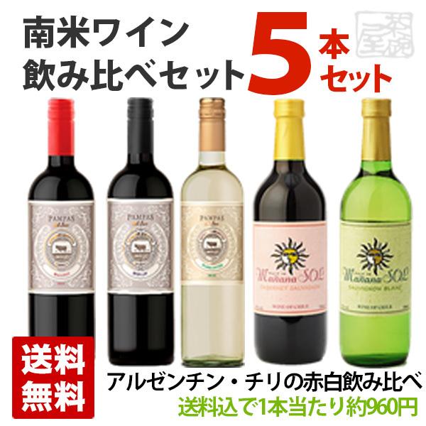 南米ワイン デイリーワイン飲み比べ 5本セット