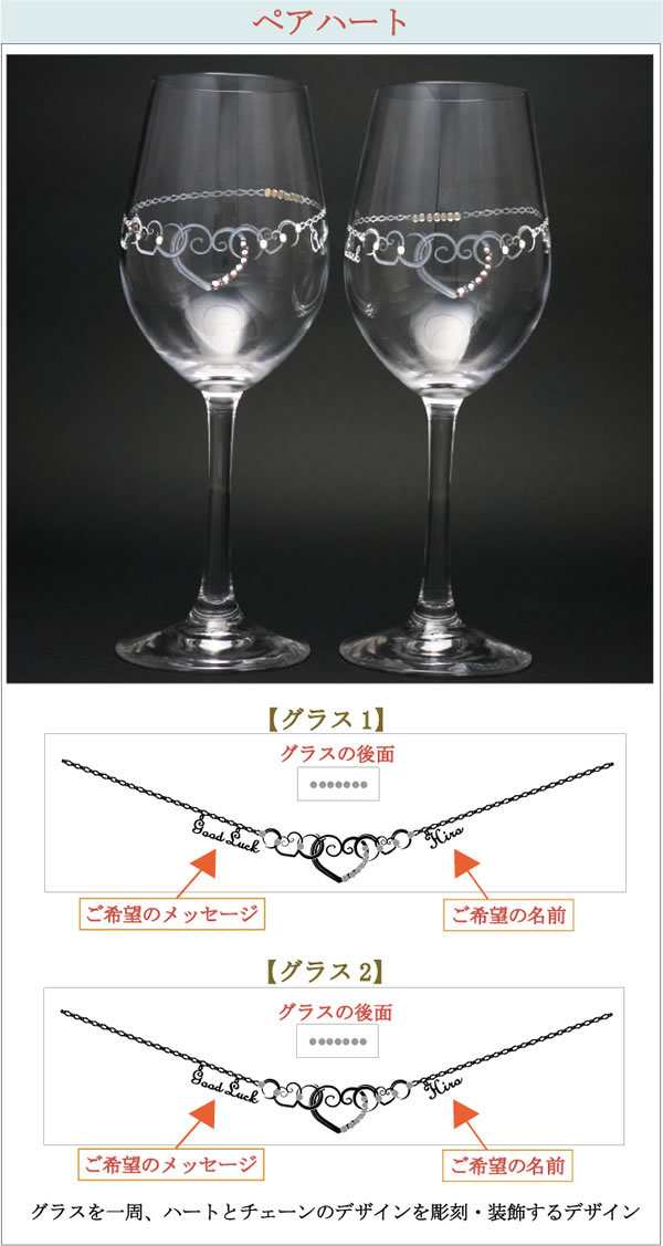 名入れペアワイングラス2