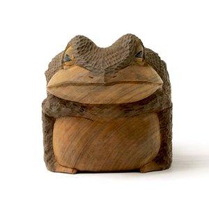最高の品質の 一刀彫 蛙(蟇)7寸5分, 深安郡 f389f411