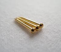 金釘 銅地本金鍍金 4分 10g