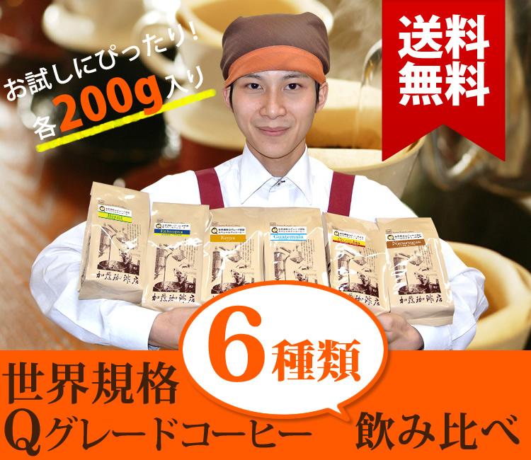 Qグレードコーヒー6種
