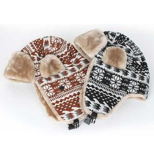 e9337b5908f7cc 帽子 レディース 冬 ファー 防寒帽 帽子 耳あて付き帽子 ...|Uniko【ポンパレモール】