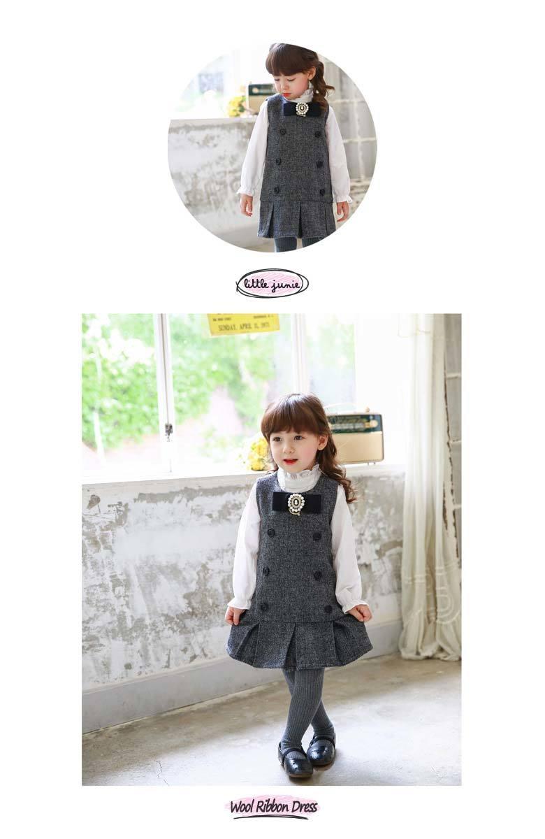07c6d5a67f834 ワンピース 黒 韓国子供服 秋冬|Uniko ポンパレモール