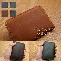 eb8c841897d4 送料無料メンズ二つ折り財布財布ウォレット革本革小銭入れボックス型サイフ財布レザー.