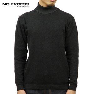 ノーエクセス NO EXCESS 正規販売店 メンズ セーター TURTLE NECK, PLATED FLATKNIT SWEATER 230948 020 BLACK