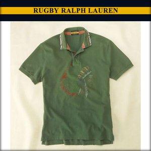 ラルフローレンラグビー RUGBY RALPH LAUREN 正規品 メンズ ポロシャツ Chief Washed Polo グリーン