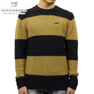 スコッチアンドソーダ SCOTCH&SODA 正規販売店 メンズ セーター BRUSHED MERINO WOOL KNIT SWEATER 139812 0218 45427 COMBO B