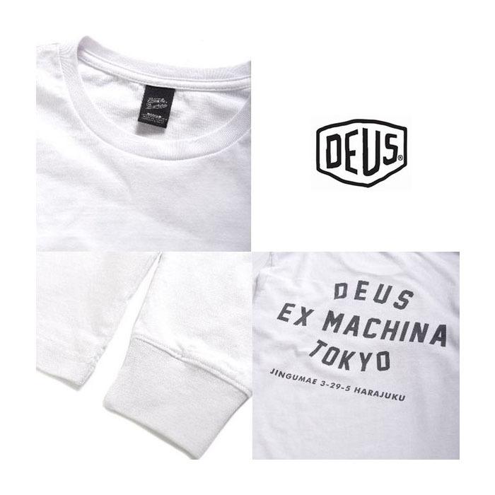 デウスエクスマキナ Deus ex Machina Tシャツ デウス DEUS 長袖 ロゴ セレブ着用 TOKYO ADDRESS T-SHIRT コットン メンズ トップス カットソー トレーナー