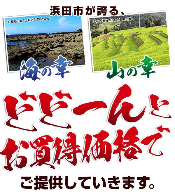 浜田市が誇る、海の幸、山の幸