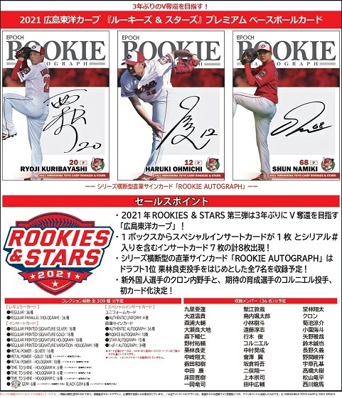 (予約)EPOCH2021広島東洋カープROOKIES&STARSBOX(送料無料)2021年4月24日発売予定