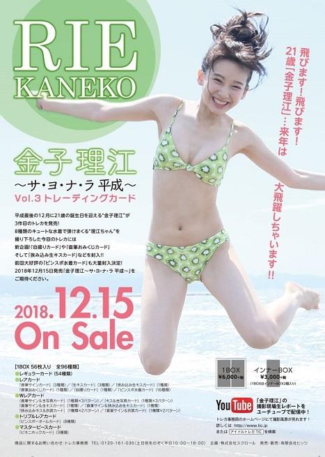 (予約)金子理江~サ・ヨ・ナ・ラ平成~Vol.3トレーディングカードBOX(BOX特典付)(12月15日発売予定)