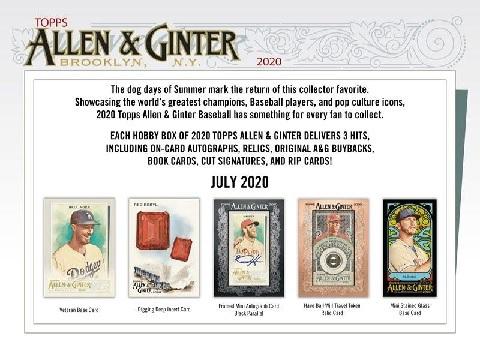 (予約)MLB2020TOPPSALLEN&GINTERBASEBALLHOBBYBOX(7月中旬発売予定)