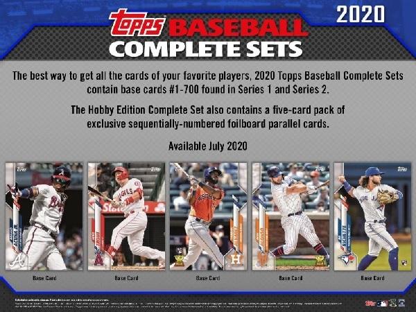 (予約)MLB2020TOPPSBASEBALLCOMPLETESETHOBBY(7月上旬発売予定)