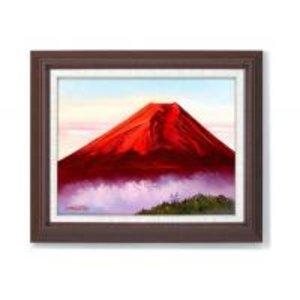 海外ブランド  道尾紀良 油絵額F6号 「赤富士」 1141740 一筆一筆丁寧に描かれた油絵です。, 『3年保証』:4da6bb09 --- blog.buypower.ng