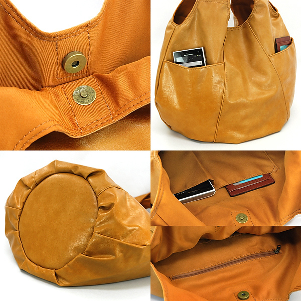 FAKE LEATHER BALLOON TOTE(フェイクレザーバルーントート)
