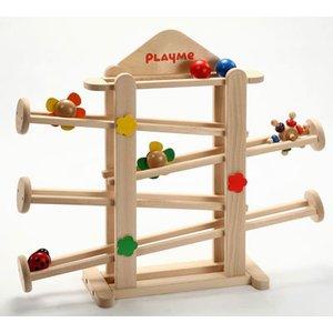 【限定製作】 【送料無料】 UKK 木製知育玩具 H0802 スロープ・トイ フラワーガーデン, ギフトショップ フランクネス 4a7ba080