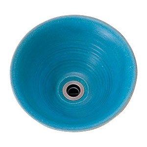 低価格の 【Essence】手洗器手作り手洗鉢 Mサイズ孔雀青(ピーコックブルー) 置型3L、約径300×125mm、陶器製, ブランド王ロイヤル:148e1c6d --- ancestralgrill.eu.org