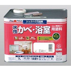 高級素材使用ブランド 【水性塗料】アトムハウスペイント 無臭かべ 7L ,WOOD 白(公団カラー) 水性かべ・浴室用塗料です。, AromDee:27ea06dd --- upcomingprojectsinpanvel.com