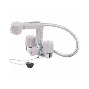 名作 三栄水栓(SAN-EI) U-MIX ツーバルブスプレー混合栓(洗髪用) 寒冷地用 K3104KR-LH, 和歌山市 1069dad1